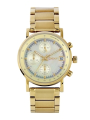 DKNY Women Pearly Gold-Toned Dial Watch NY4332