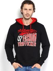 D.O. Men Black Hooded Sweatshirt