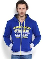D.O. Men Blue Hooded Sweatshirt