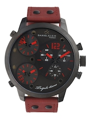 Daniel Klein Men Charcoal Grey Triple Dial Watch DK10368-3