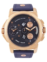 Daniel Klein Men Navy Dual Dial Watch DK10185-3
