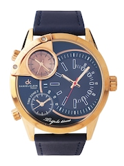 Daniel Klein Men Navy Three-Dial Watch DK10310-8