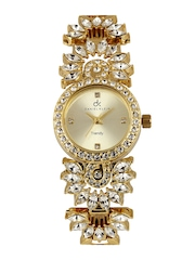 Daniel Klein Women Gold Toned Dial Watch DK10116