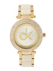 Daniel Klein Women Gold-Toned Dial Watch DK10383-6
