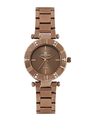 Daniel Klein Women Metallic Brown Dial Watch DK10196-4
