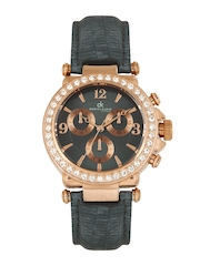 Daniel Klein Women Charcoal Grey Dial Watch DK10155