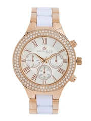Daniel Klein Women Silver-Toned & Off-White Dial Watch DK10361-5