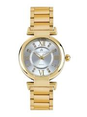 Daniel Klein Women Silver Toned Dial Watch DK1019-3