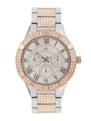 Daniel Klein Women Silver-Toned Dial Watch DK10355-3