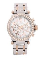 Daniel Klein Women Silver-Toned Dial Watch DK10374-3
