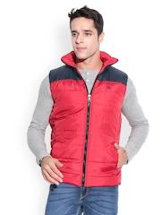 Dazzgear Men Red & Navy Reversible Padded Jacket