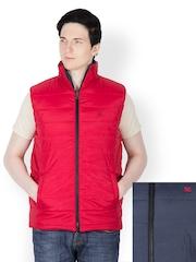 Dazzgear Men Red & Grey Reversible Jacket