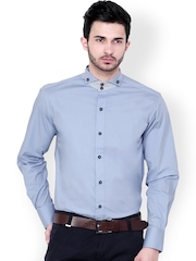 Dazzio Blue Slim Fit Semiformal Shirt