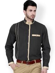 Dazzio Grey Slim Fit Semiformal Shirt