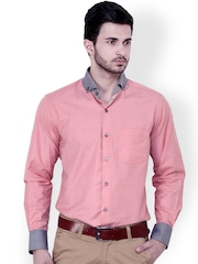 Dazzio Pink Slim Fit Semiformal Shirt