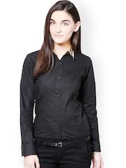 Dazzio Women Black Formal Shirt