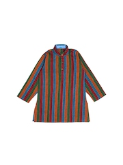 Dennis Morton Boys Multi-Coloured Striped Kurta