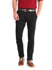 Derby Men Black Slim Fit Trousers