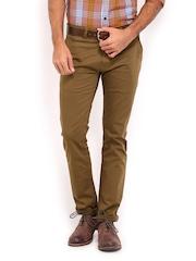 Derby Men Brown Slim Fit Trousers