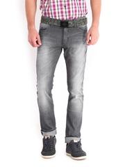 Derby Men Grey Slim Fit Jeans