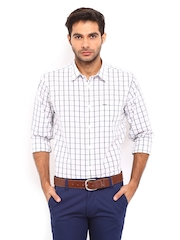 Derby Men White & Black Checked Urban Fit Casual Shirt