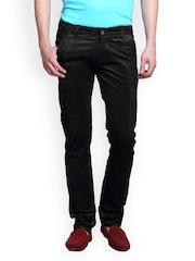 Design Roadies Men Black Corduroy Trousers