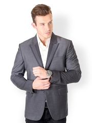 Dezignare Men Grey & Black Blazer