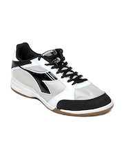 Diadora Men Black & White 830 ID Sports Shoes