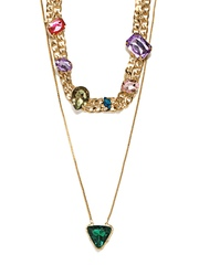 Set Of 2 Gold Toned Necklaces Diovanni