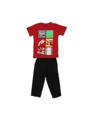 Disney Boys Red & Black Clothing Set