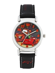 Disney Boys Red & Black Dial Watch