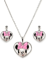 Disney Girls Silver-Plated Jewellery Set