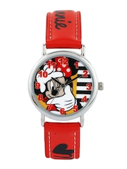 Disney Girls Red & White Dial Watch
