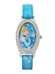 Disney Girls Blue Graphic Print Dial Watch