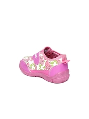 Disney Girls Pink & White Floral Printed Flat Shoes