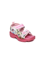 Disney Princess and Fairies Girls Pink Printed Sandals
