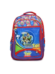 Kids Red & Blue Printed School Bag Disney