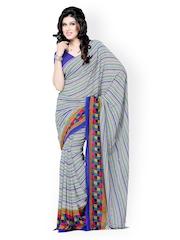Diva Fashion Multicoloured Georgette Printed Saree