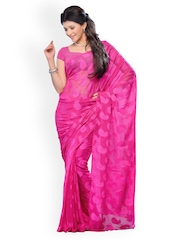 Diva Fashion Pink Jacquard Fashion Saree