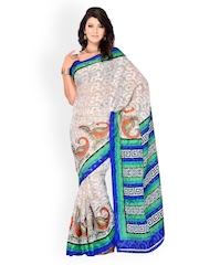 Diva Fashion Multi-Coloured Printed Brasso Fashion Saree