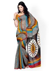 Multicoloured Printed Raw Silk Fashion Saree Diva Fashion 396911