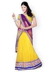 Diva Fashion Yellow Net Lehenga Choli with Dupatta