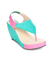 Turquoise Blue Wedges Do Bhai Collections