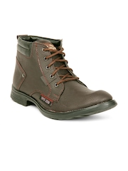 Do Bhai Men Brown Boots