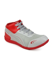 Men White & Red Casual Shoes Do Bhai