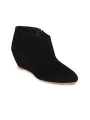 Do Bhai Women Black Ankle Boots