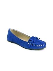 Do Bhai Women Blue Suede Loafers