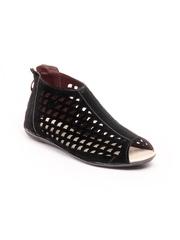 Do Bhai Women Black Gladiator Sandals