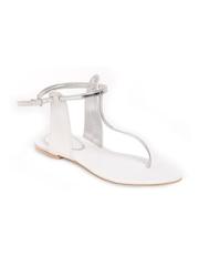 Do Bhai Women Silver Toned Sandals