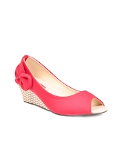 Do Bhai Women Red Wedges